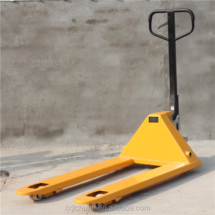 low price Manual Pallet Truck Double Wheels good quality