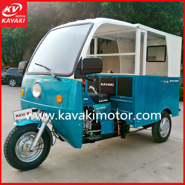 150cc China 3 / Three Wheel Motorbike With Side Doors And Double Seats