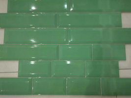 green subway tile/backsplash tile/ceramic wall tile 75*300mm from foshan MDC