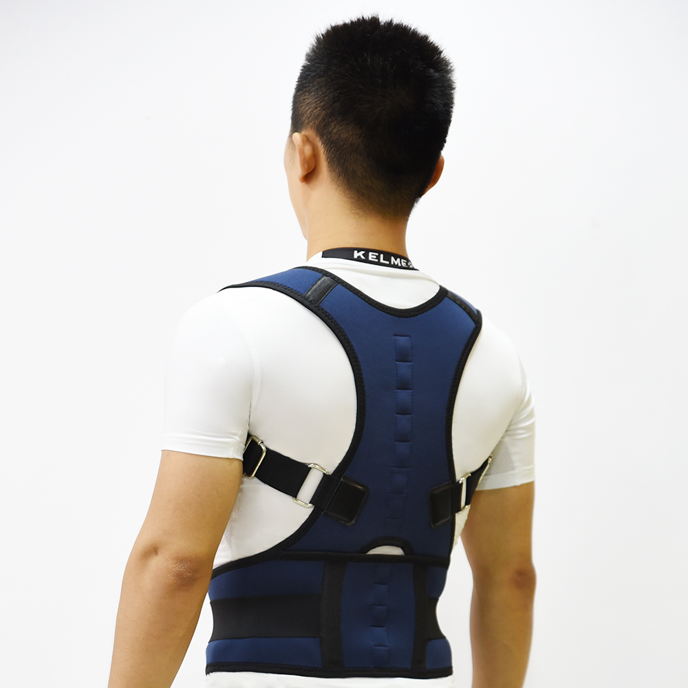 Men Upper Magnetic Shoulder Back Support Customized Size Therapy Posture Corrector, Navy or customized