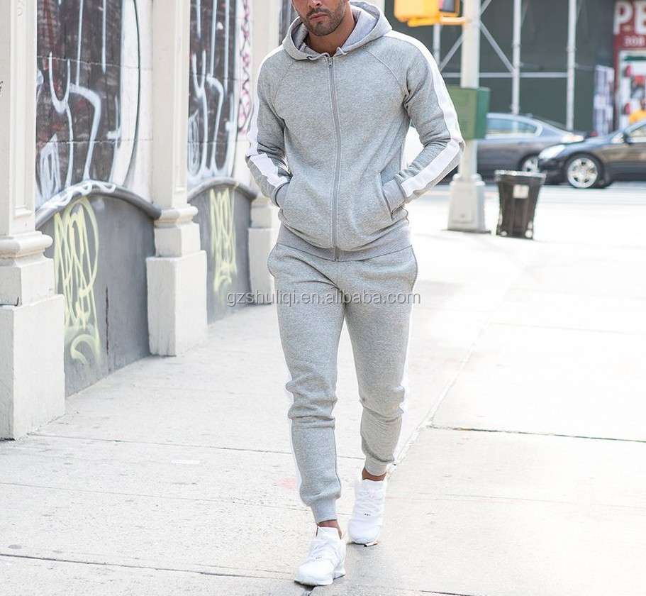 professional custom mens plain fitness high quality tracksuits design your own logo tracksuit/ jogging suit
