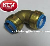 DZR and Lead Free Brass Elbow Brass Pex Fitting for push in quick connect to pex pipe copper pipe pvc pipe