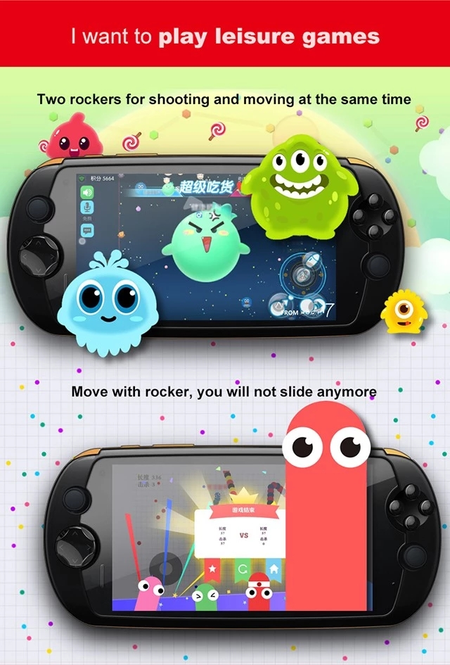 2018 NEW MOQI I7 4G LTE Android 5800mAH Original Gamepad Smart Game Phone