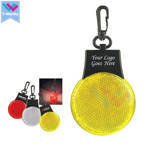 Cheap Reflective LED Bike Warning Safety Light LED Keychain Light For Bag
