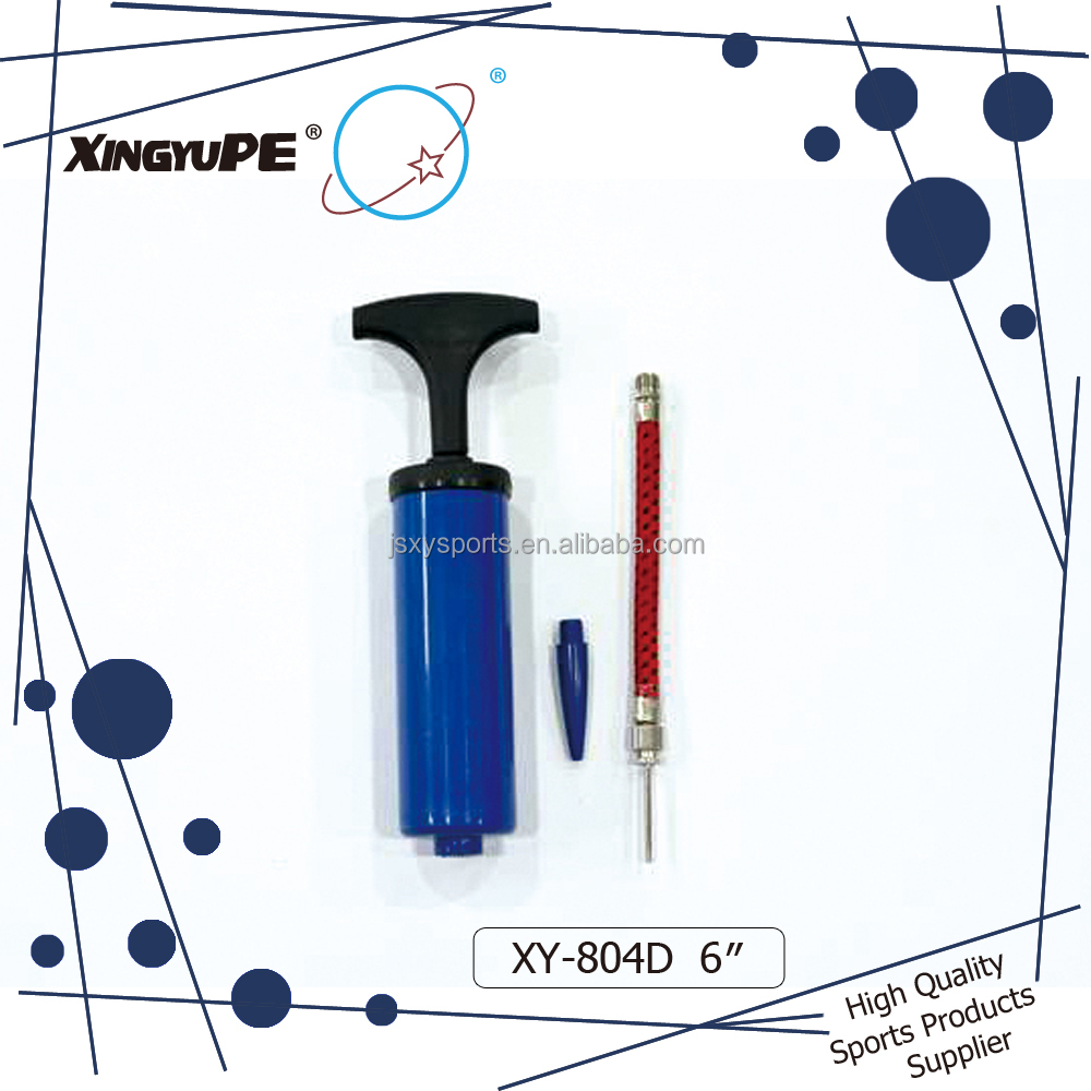 "XY-804D 6"" Mini Ball Pump,Rubber Ball Air Pump With Needles"