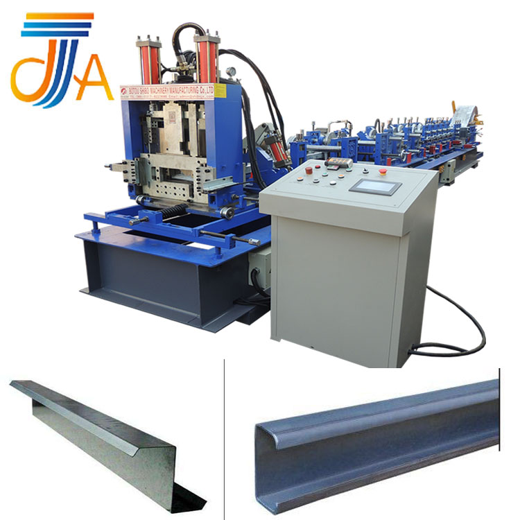 C Z shape galvanized steel purlin Metal Tile Roll Forming Machine for warehouse