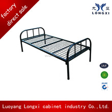 Home furniture single folding metal bed school furniture wall bed