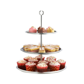 Stainless Steel 3 Tier Cake Stand To Display Cakes Cupcakes Biscuits Muffins Party Wedding Buy Wedding Cake Stand 3 Tier Cake Stand Cake Stand Product On Alibaba Com