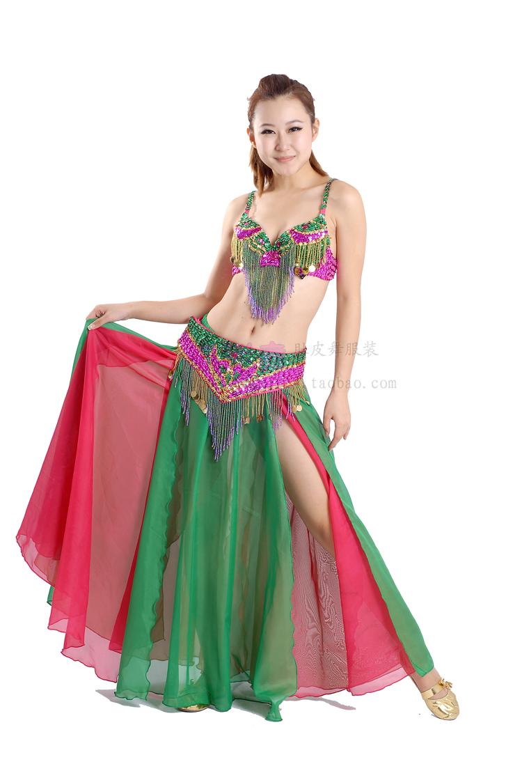 3126ace6e0e6 Get Quotations · 10set/lot 3pcs/set sexy professional belly dance costume  dancing top bra/ belt