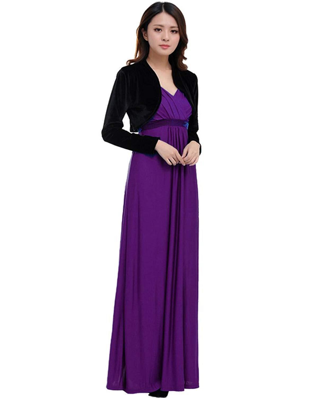 64d5dfeca6 Buy Medeshe Women's Purple Bridesmaid Maxi Dress Gown with Velvet  Bolero in Cheap Price on m.alibaba.com