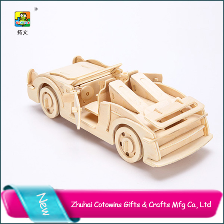 Ornament DIY Jigsaw 3d Puzzle Car Game Toy For Child