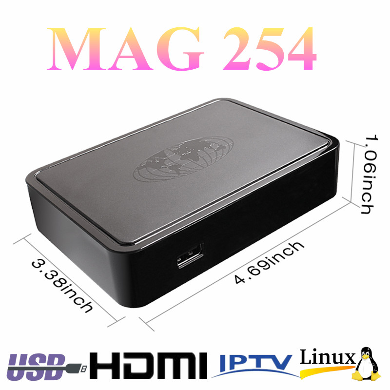 mag 254 iptv box wifi smart USB wifi STi7105 IPTV 1080P MAG254 TV box