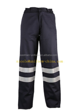 96abceb1c555 mens heavy work navy blue fire retardant fabric reflective tape safety cargo  pants work trouser with