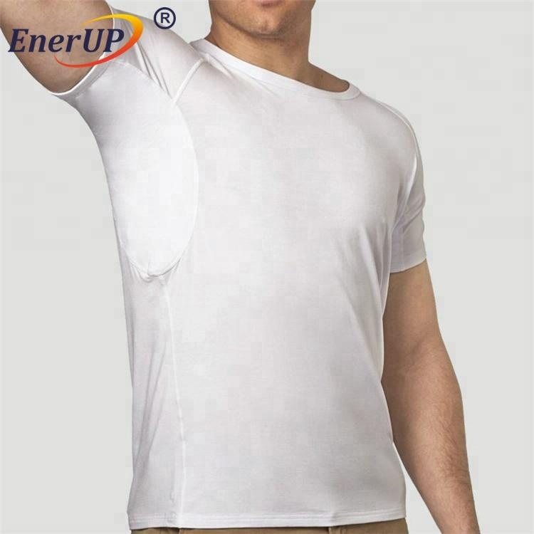 Alibaba.com / Men's crew neck white sweatshield undershirt