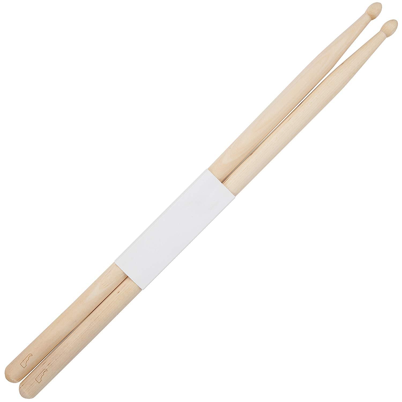 Delaware 5B Maple Drumsticks With Laser Engraved Design - Durable Drumstick Set With Wooden Tip - Wood Drumsticks Gift