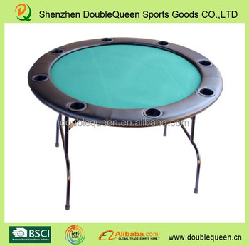 Cheap folded round poker tables with wheels with fold for 10 person folding poker table