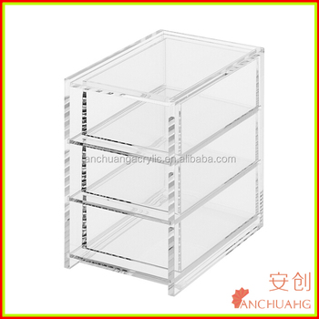 Clear Acrylic Storage Containers Bins X3