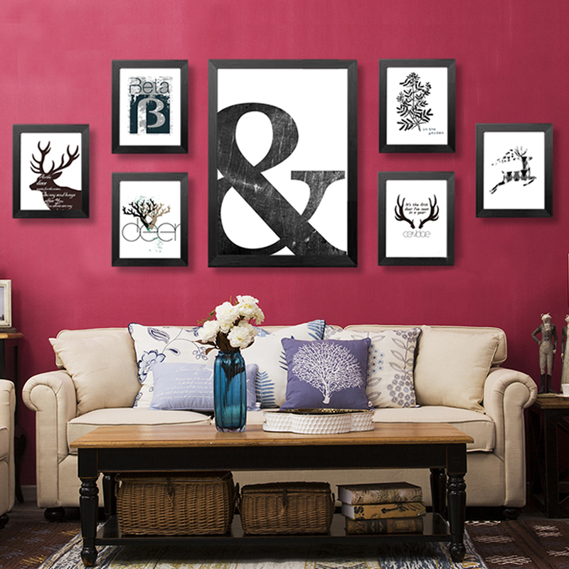 Bar Room Decor: Canvas Art Print Poster Animal, Pattern Wall Art Wall