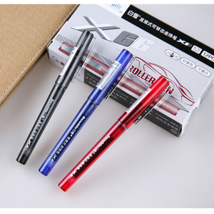 Needle tip promotional refillable liquid ink plastic roller pen