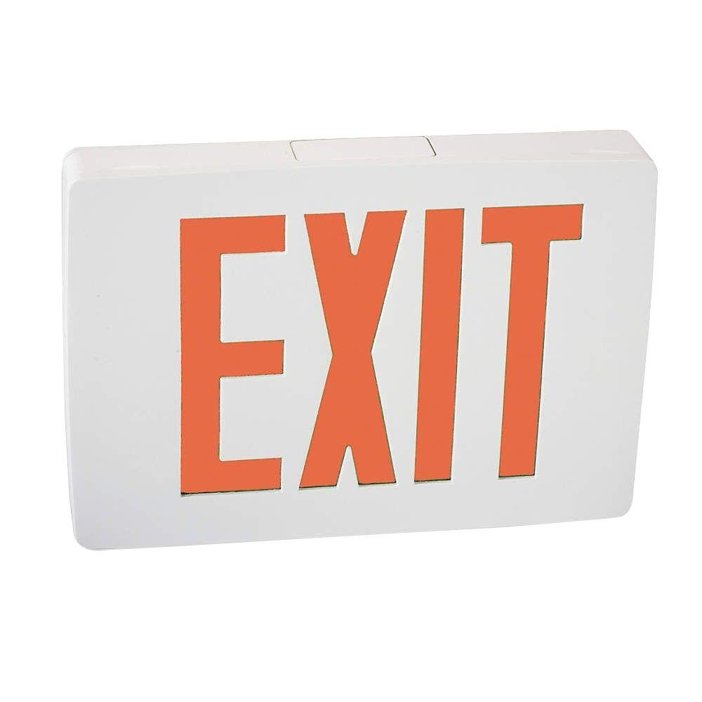 Lithonia Lighting LQC W 1 R 3W LED Exit Sign, White
