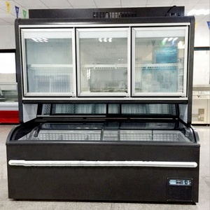 Convenience stores, supermarkets, refrigerated sub cabinet, beer, beverages, refrigerated and frozen food glass display showcase