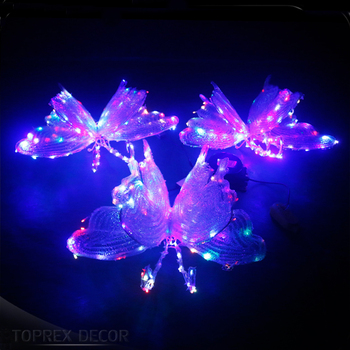 Rgb Changing Color Butterfly Christmas Door Decorating Ideas Buy Christmas Door Decorating Ideas Christmas Decorations Outside Christmas House Decorations Product On Alibaba Com