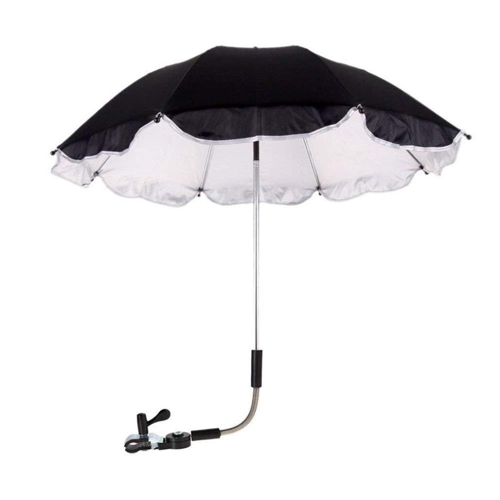 Elaco Sun Rain Umbrella, Baby Stroller Cover Parasol For Sun Rain Protection UV Rays Outdoor Umbrella