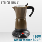 480W new eletric coffee pot,espresso moka maker,Italy aluminium cafe pot