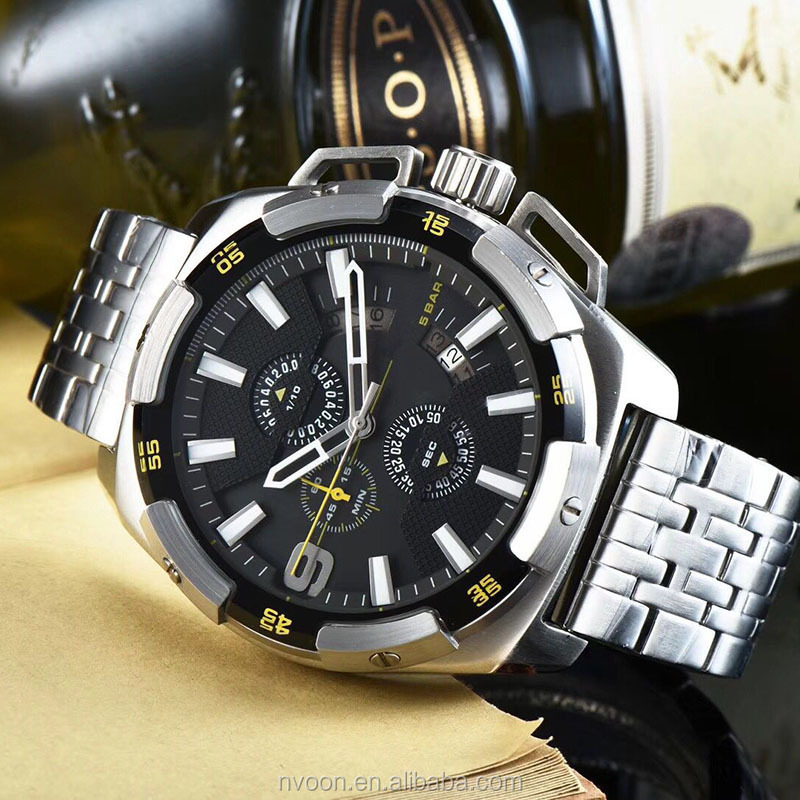 2018 3 Dial Golden Metal Series Men Brand Watch Top Brand Luxury  Man Mechanical 30ATM Waterproof Wrist Watch