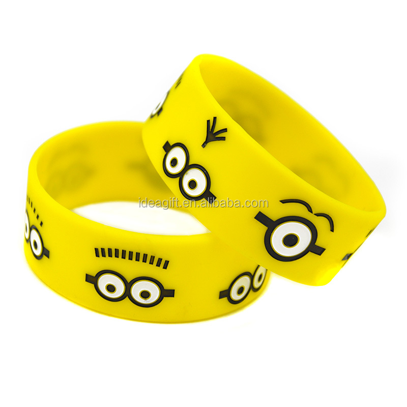 25pcs/Lot Minions Silicone Wristband Animation Bracelet