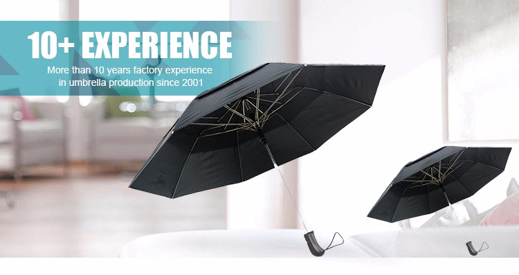 Elegant firm skeleton daily supplies 2 fold umbrella with heat transfer printing
