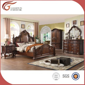 Rubber Wood Bedroom Furniture, King Size Top Quality Bedroom Set