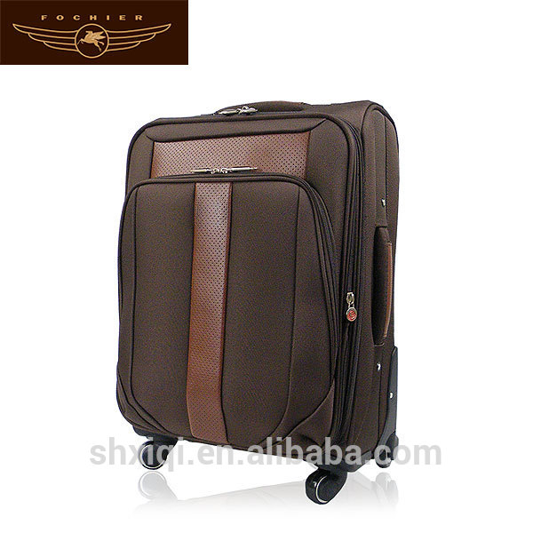 New Design Brown 1680D travel luggage suitcase for Europe
