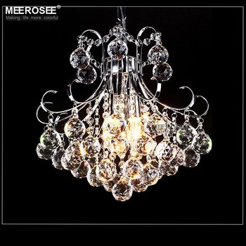 Meerosee Pull Chain Crystal Ceiling Light Mini Chandelier Low Md83039