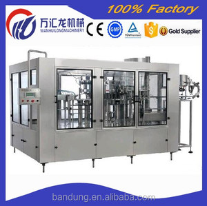 Full automatic high output plastic bottle CO2-contained beverage 3in1filling machine passed CE ISO standard