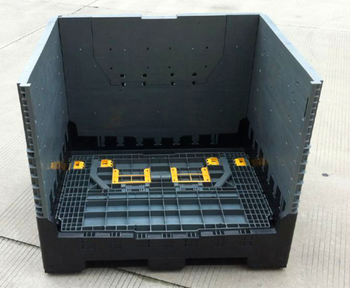 Collapsible Plastic Vegetable Storage Box Container Plastic Stackable Storage  Bins
