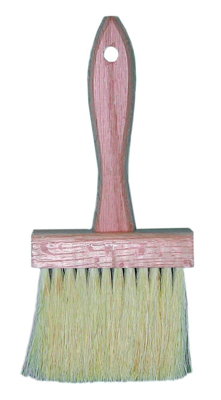 "Magnolia Brush 563 Hardwood Block Coater Brush, Heavy Filled Tampico Fiber Bristles, 3"" Trim, 4-1/4"" Length x 1-3/4"" Width, White (Case of 12)"