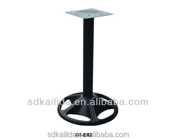 2014 hot sale Foshan high quality Cast iron table base with round bottom plate made in China supplier