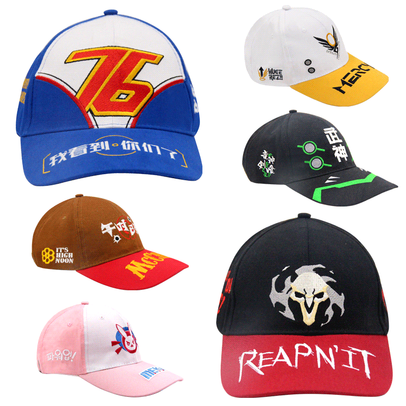 pc game overwatch characters hat basebal cap