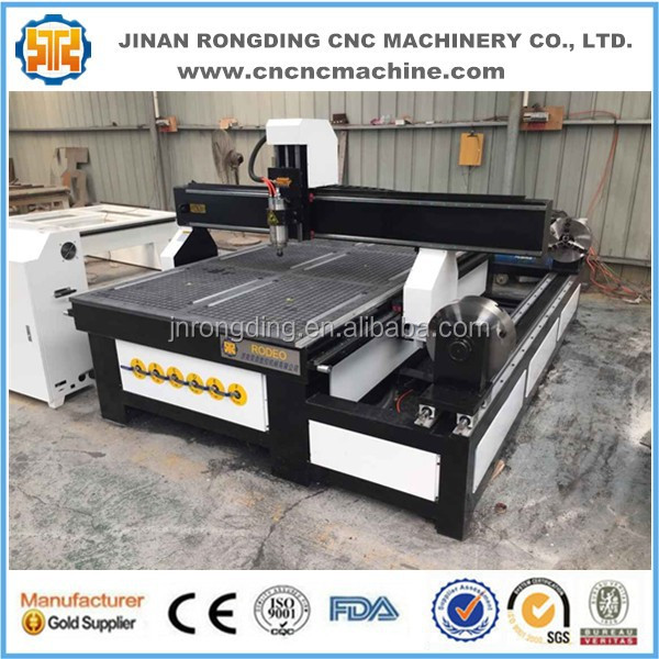 Multi use rotary table 4 axis cnc router engraver machine for wood MDF acrylic 1325