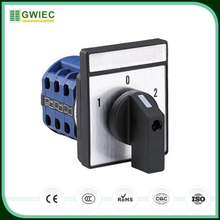 GWIEC China Cheap Price Finger Proof Terminals 3 Position Universal Changeover Rotary Switch 240V 10A