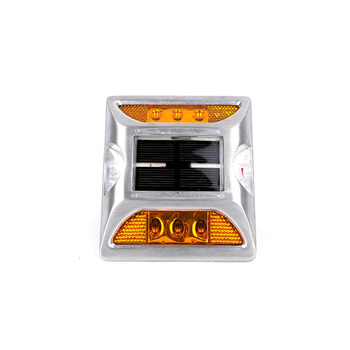 Solar Road Stud Light Square Waterproof Reflective LED Cat Eye Road Safety Stud Flashing Light
