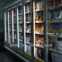 supermarket reach in freezer