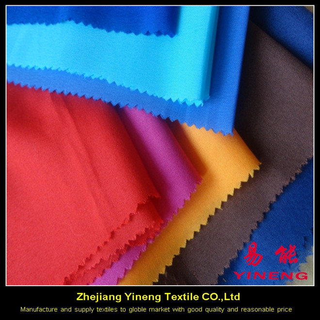 china zhejiang yineng textile co 100% polyester 288f solid color textile and fabrics