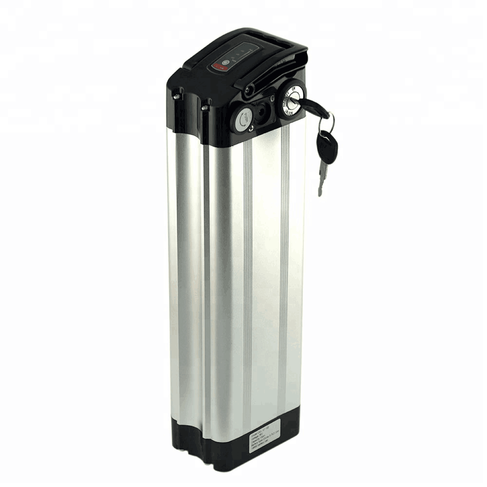 Lithium li ion battery silver fish electric bicycle bike battery 48v 10ah, Silver case or black case
