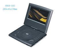 Hot Selling PDVD-555 Portable DVD Player support DVD-R/DVD+R/DVD+RW/DVD/CD/VCD/SVCD/MP3/WMA