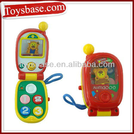 Cute musical toy mobile phone for kids