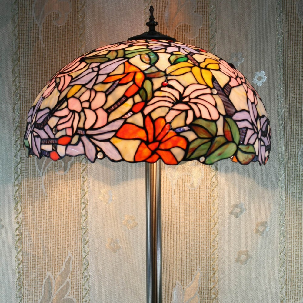 2017 classic style colorful 19Inch tiffany moder floor lamp