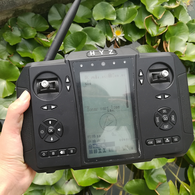 Integrated RC Transmitter GPS Sonar fish finder Autopilot whole functions in one machine, Black