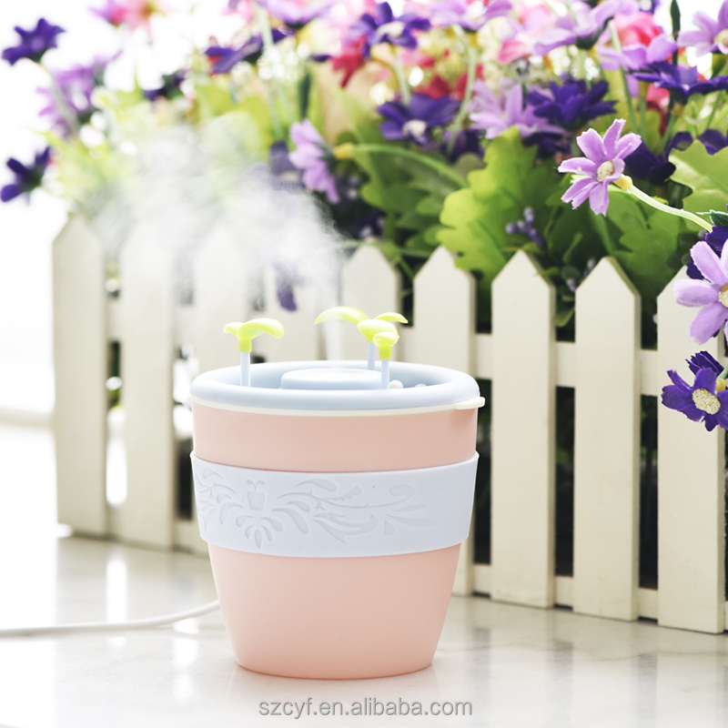 Factory Wholesale pink portable aroma diffuser ultrasonic humidifier parts